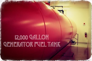 Texas data center backup generator fuel tank