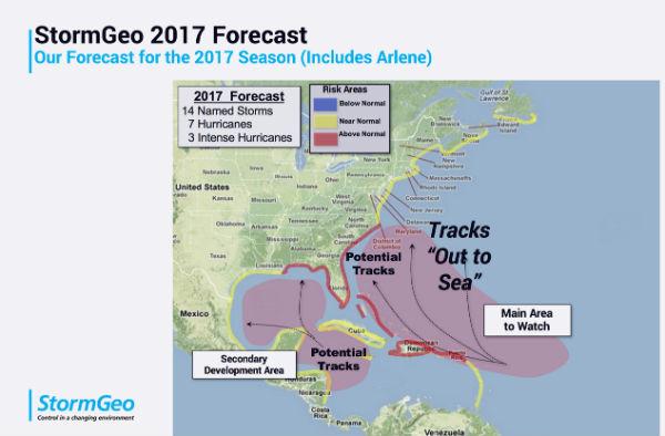 StormGeo 2017 Tropics Forecast